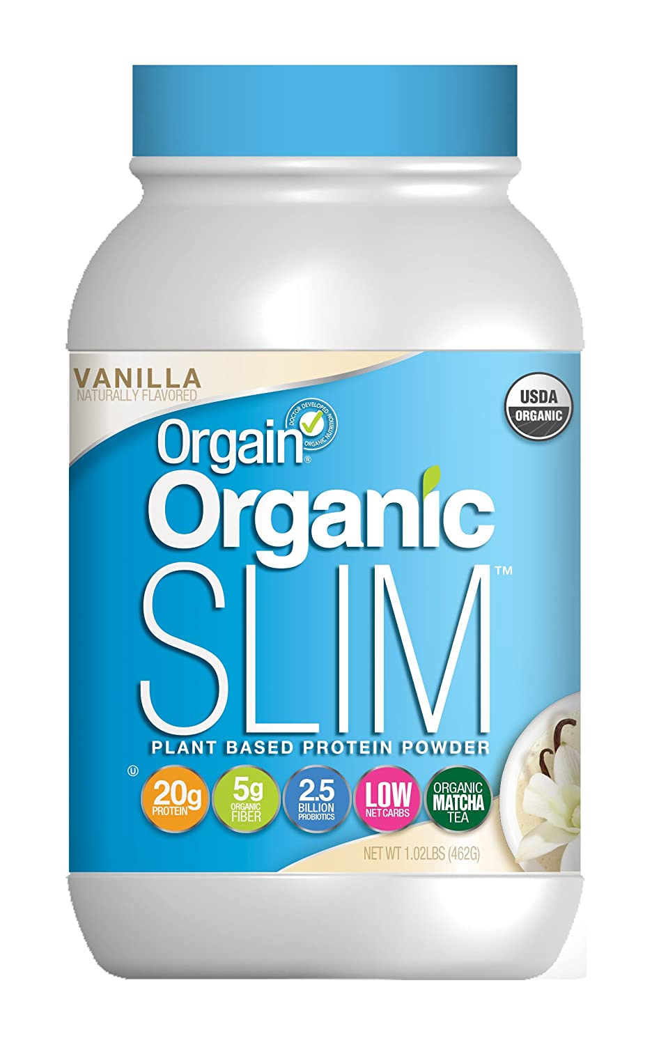 Orgain Organic Slim Weight Loss Powder, Vanilla Bean, 1.02 Pound, 1 Count