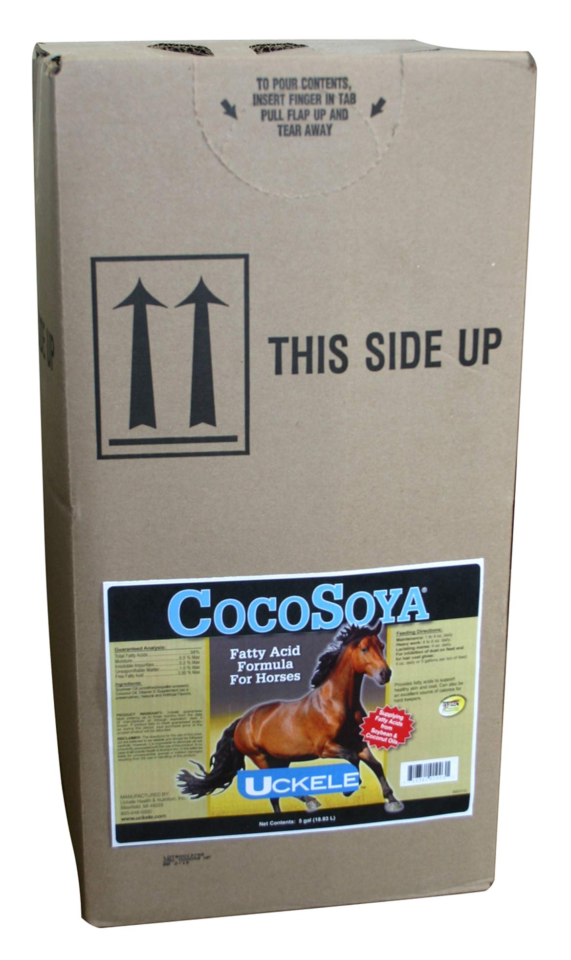 Uckele Cocosoya Oil 640oz 5 Gallon by Uckele