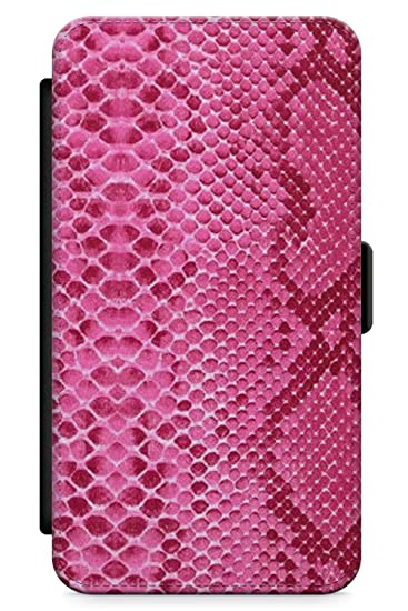buy online 28374 c9272 Case Warehouse iPhone 10 Case, iPhone X Case, Pink Snakeskin Phone Case  Premium Leather Flip Wallet Card Holder Slots   Animal Print Leather Cute  ...
