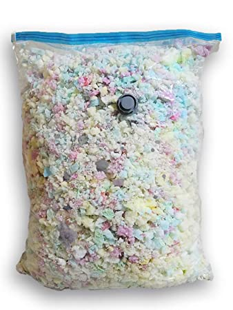 Fine Shredded Polyfoam – Filler for Stuffing, Upholstery, Pillows, Crafts, Bean Bags, Chairs, Sofa, Pet Dog Beds, and More – Made in USA 50 Pound