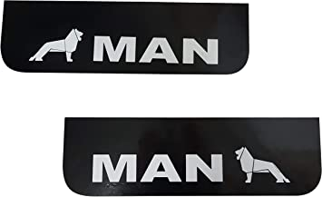 2 Pcs Rubber Mudguards Black Mud Flaps Truck Lorry Trailer Accessories 60 x 18 cm 23.6 x 7.1