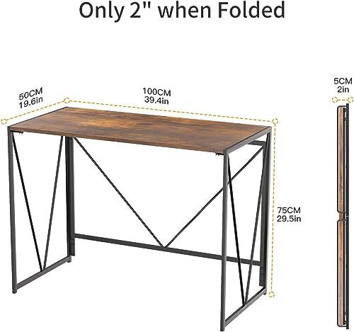 NOBLEWELL Folding Computer Desk 39 inch