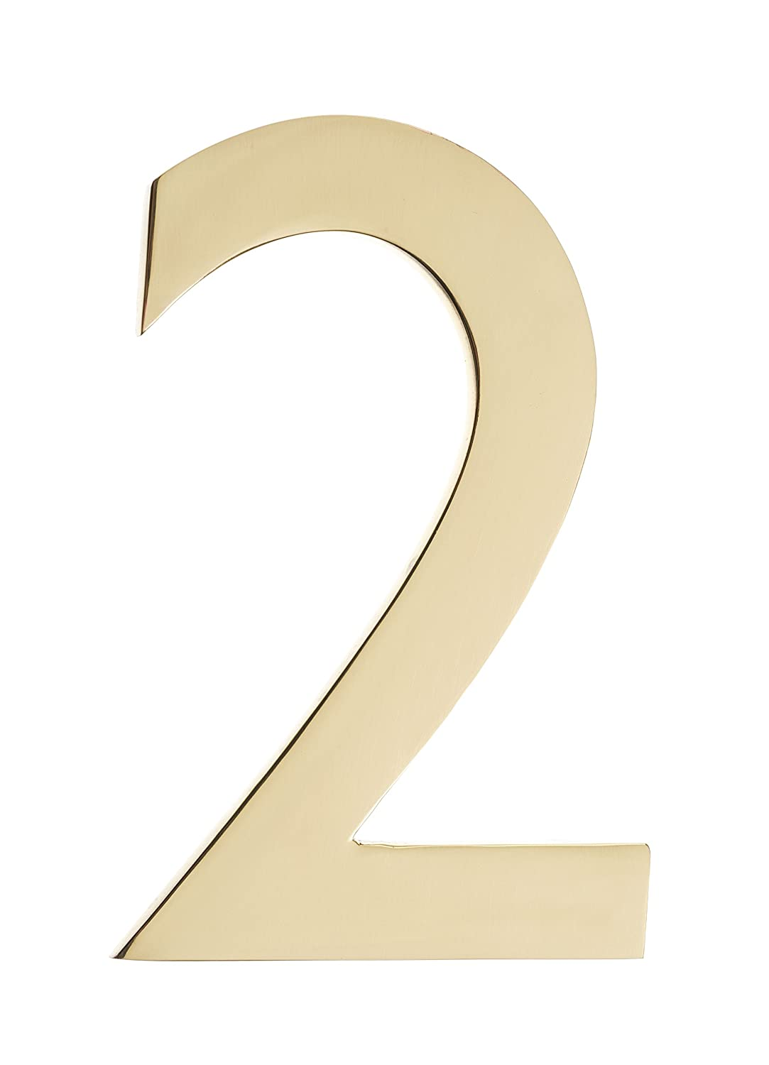 Architectural Mailboxes 3582B-2 4 in. Brass Floating House Number 2, Black