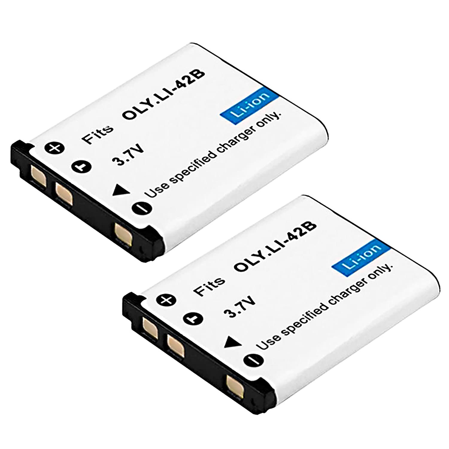 2-Pack LI-42B UltraPro Accessory Bundle Included LI-40B LI-40C High-Capacity Replacement Battery with Rapid Dual Charger for Select Olympus Digital Cameras