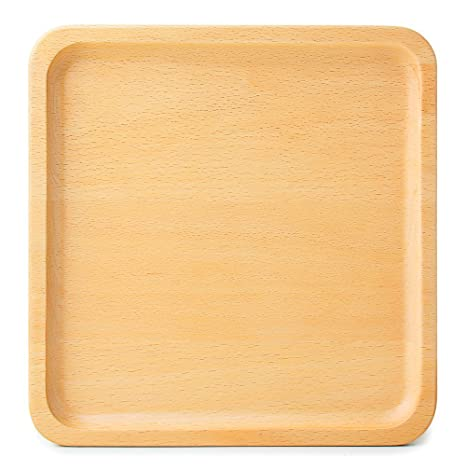 Japanese Style Wooden Tray Solid Beech Wood Serving Tray Tea Tray Beech Plate Serve Plates Wooden  sc 1 st  Amazon.com & Amazon.com: Japanese Style Wooden Tray Solid Beech Wood Serving Tray ...