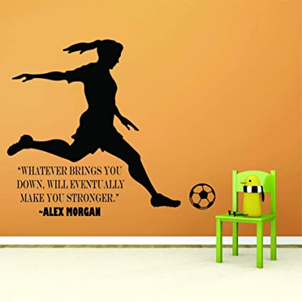 Alex Morgan Wall Decals For Kids Bedrooms Motivation Girls Soccer Stickers  For Bedroom Sports Designs Vinyl