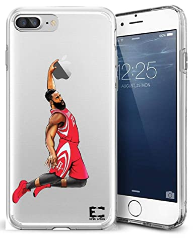 fdfb39e3ef5b iPhone6 Plus iPhone 7/iPhone 8 Plus Case Epic Cases Ultra Slim Crystal  Clear Basketball Series Soft Transparent TPU Case Cover Apple (Harden MVP  ...