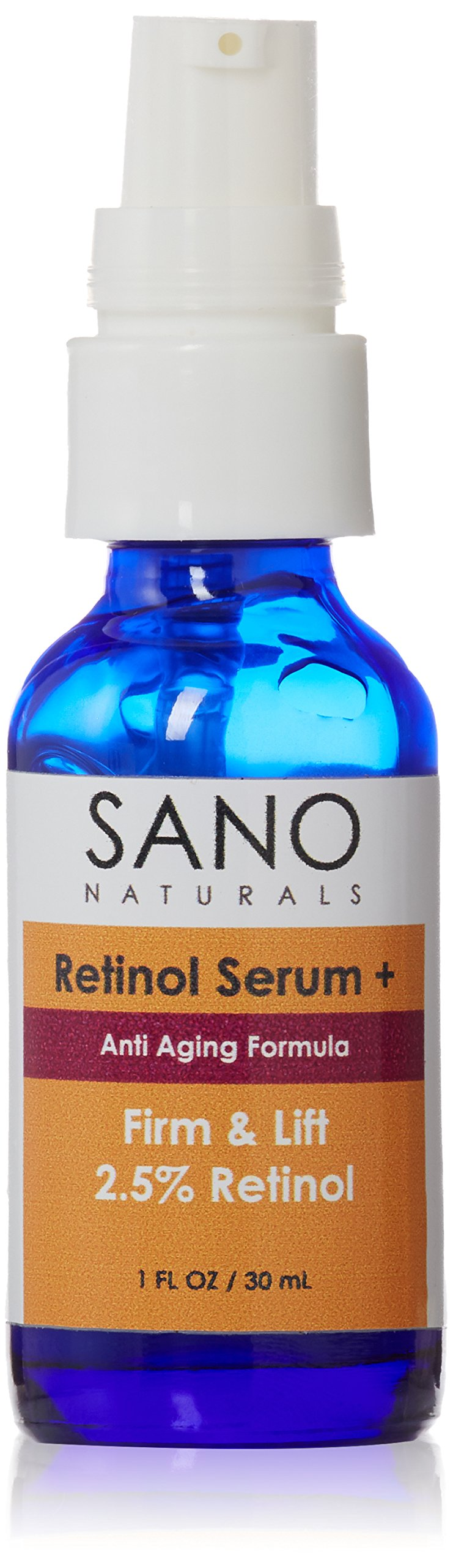 Retinol Serum With Hyaluronic Acid - Firming, Anti Aging, Anti Wrinkle Face Serum Helps Pores and Even Skin Tone - Organic, Use Day or Night.