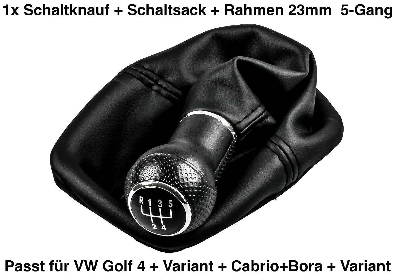 1x Top Schaltknauf 5 Gang + Schaltsack + Rahmen (Go4 5 Gang) 3D Carbon Design