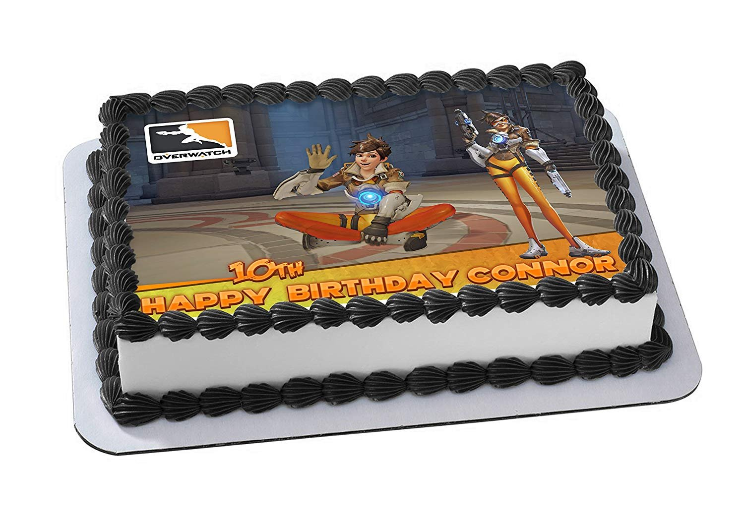 EdibleInkArt Tracer Overwatch Edible Cake Topper Personalized ...