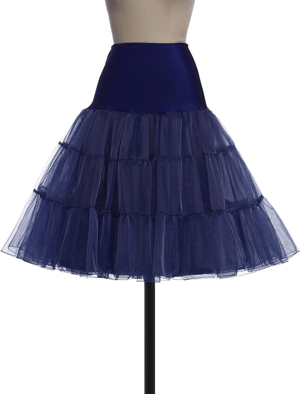 Jack Smith Les ann/ées 50 Vintage Petticoat Crinoline Underskirt Femmes Glisse Diff/érents Couleurs CL922JSFR