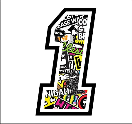 Sticker Number 1 Race 12 Cm Sticker Bomb Rennen Cross Track Auto Motorrad Aufkleber Auto