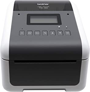 Brother TD4550DNWB 4-inch Thermal Desktop Barcode and Label Printer, for Labels, Barcodes, Receipts and Tags, 300 dpi, 6 IPS, Standard USB and Serial, Ethernet LAN, Built-in Wi-Fi and Bluetooth