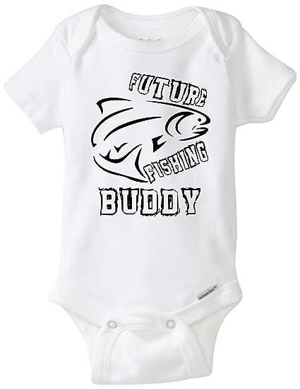 dcfcd24b2d47 Amazon.com  BLAKENREAG Future Fishing Buddy Funny Baby Onesie Baby ...