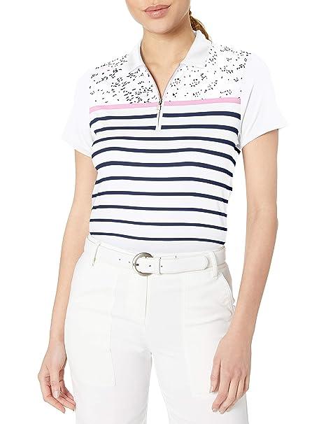 Callaway Performance Short Sleeve Printed Polo Shirt, Mujer ...