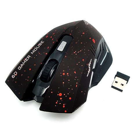 2,4 G inalámbrico Ratón para gamer, portátil inalámbrico ratón óptico con Nano receptor