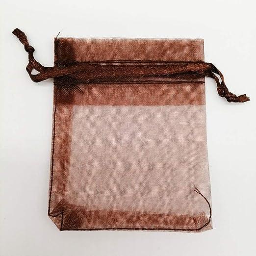 Cregg - 50 Bolsas de Organza de 25 x 35 cm para joyería ...