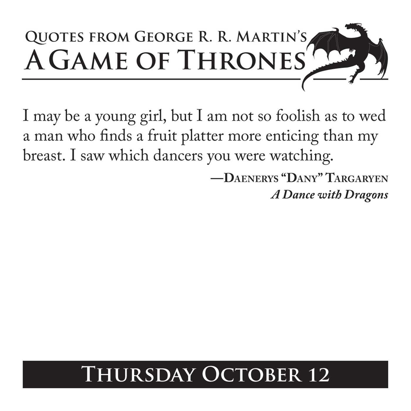 Amazoncom Quotes From George Rr Martins A Game Of Thrones Book