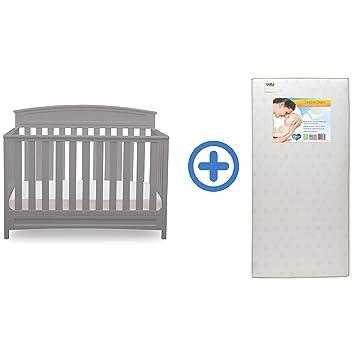 Delta Children Twinkle Stars Fiber Core Crib and Toddler MattressWaterproof