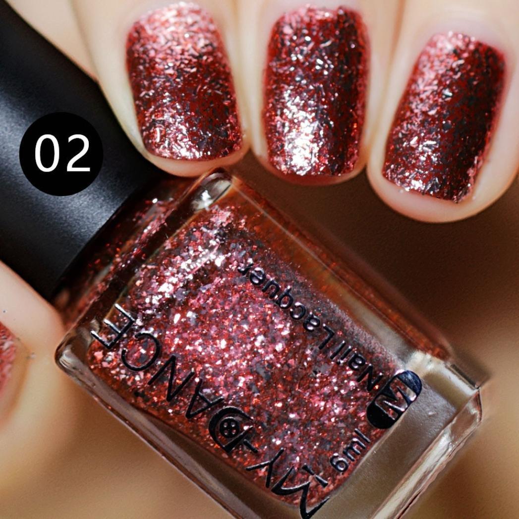 Amazon.com: Clearance Sale Nail Polish Gel Glitter for Womens Girls Teens, Iuhan® Platinum Nail Polish Shines Gel Polish Nail Kits (B): Health & Personal ...