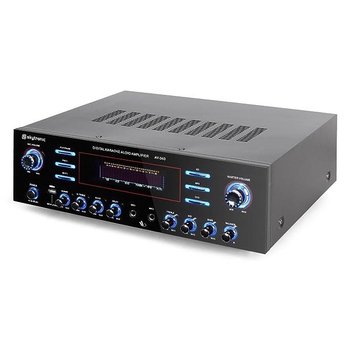 Skytronic AV-340 Amplificador Karaoke 5 Canales USB MP3: Amazon.es ...