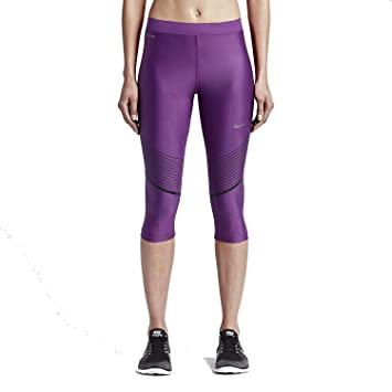 Nike Womens Power Speed Compression Running Capri Tights (X-Small, Black /Hyper