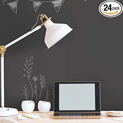 Roommates Rmkwp Chalkboard Peel And Stick Wallpaper    Black