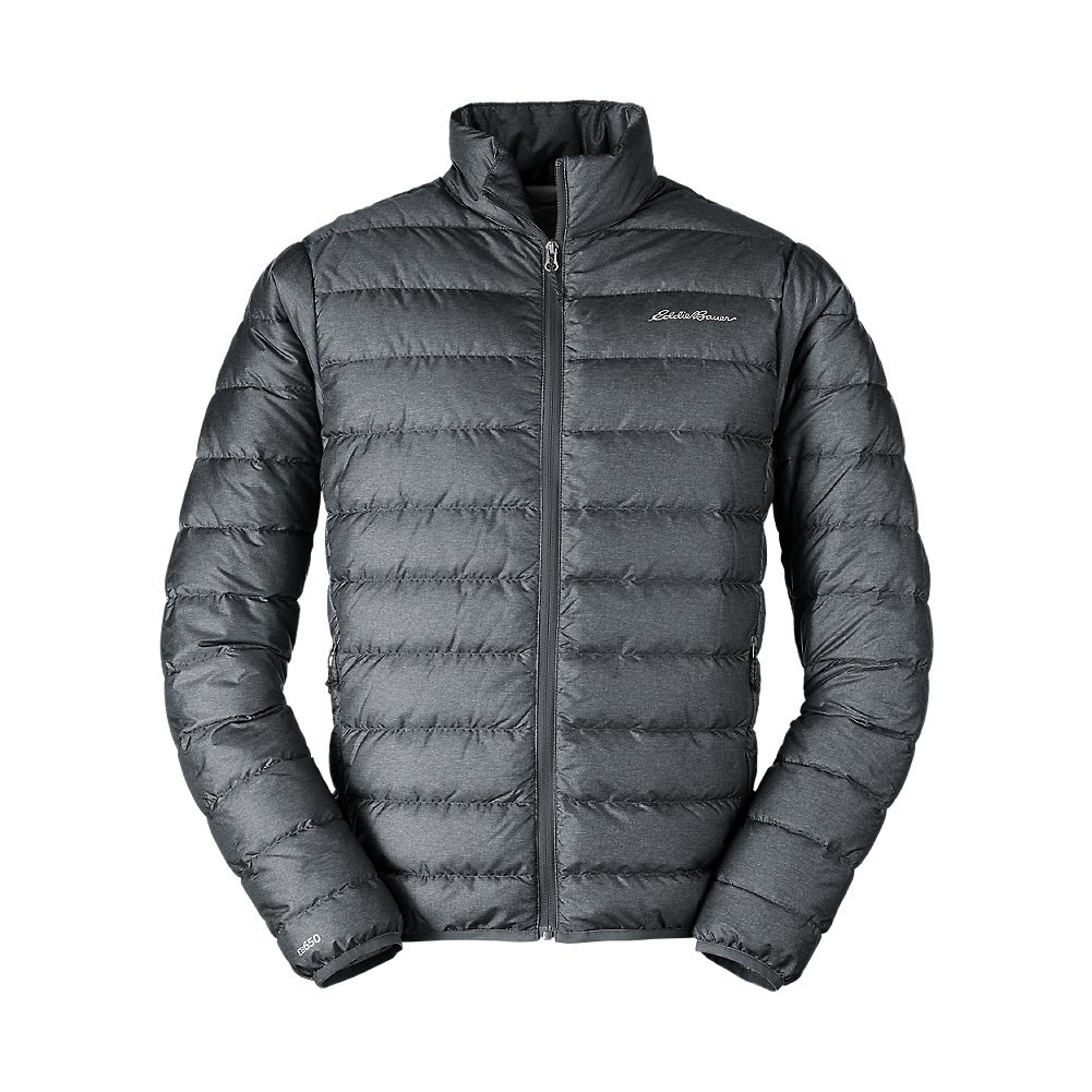 Eddie Bauer Men's CirrusLite Down Jacket, Dk Smoke HTR Regular S by Eddie Bauer