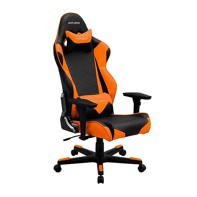 Delicieux Amazon.com: DXRacer RE0/NO Black Orange Racing Bucket Seat Office Chair  Ergonomic With Lumbar Support (Orange): Kitchen U0026 Dining