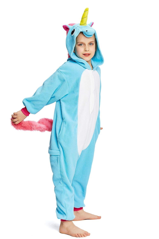 4-10T CANASOUR Kids Unicorn Onesie Animal Unisex Pajamas Children
