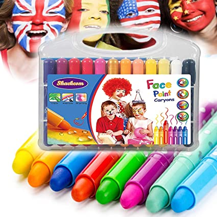 6 Colors Face Painting Crayon Baby Face Paint Body Painting Pen Stick Toys For Children Halloween Makeup Party Decoration Toys & Hobbies