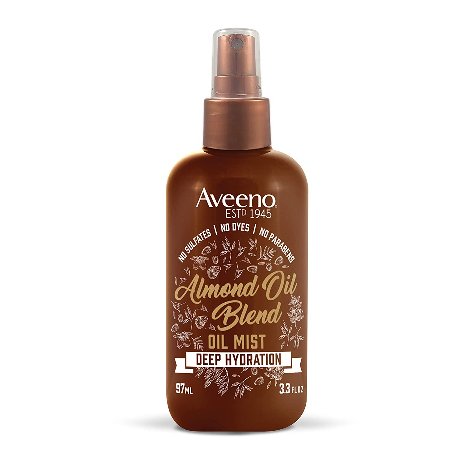 Aveeno Intense Hydration Almond Oil Hair Mist, 3.3 Ounce