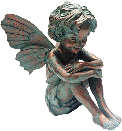 Home Styles Caroline Fairy 96108 Large Sitting Statue Bronze Patina