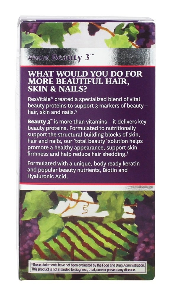 ResVitale - Beauty 3 Collagen, Keratin & Elastin Formula - 90 Capsules by ResVitáleTM (Image #3)