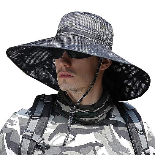Gorras Sombreros Sombrero para El Sol Hombres A Prueba De Viento ...