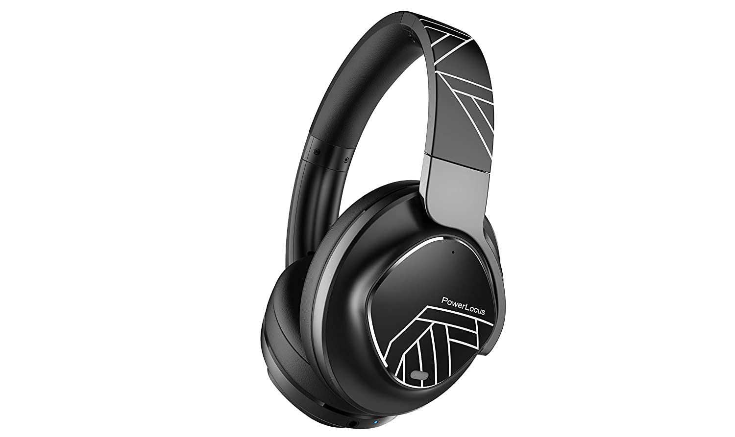 PowerLocus Active Noise Cancelling Headphones, Bluetooth Over-Ear Headphones with Noise Reduction, Wireless Headphones, Hi-Fi Deep Bass, Voice Assistant, Foldable with Microphone for Phones/Laptops/PC