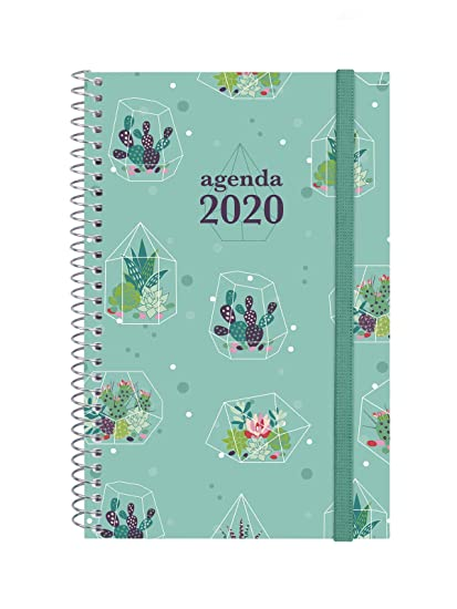 Finocam - Agenda 2020 semana vista apaisada Espiral Design Collection Cactus catalán