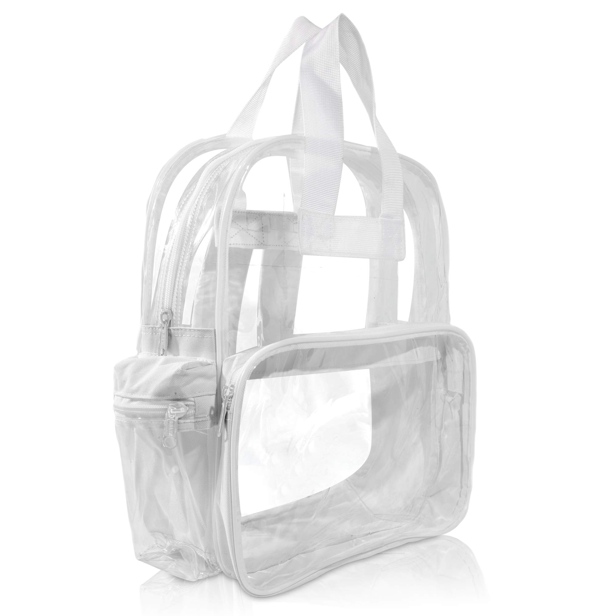 DALIX Clear Backpack for School Transparent Bags Girls Boys White 12 Pack by DALIX