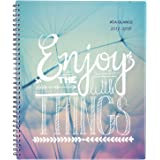"""AT-A-GLANCE Academic Weekly / Monthly Planner, July 2017 - June 2018, 8-1/2"""" x 11"""", Insta-Note, Design Will Vary (183-905A)"""