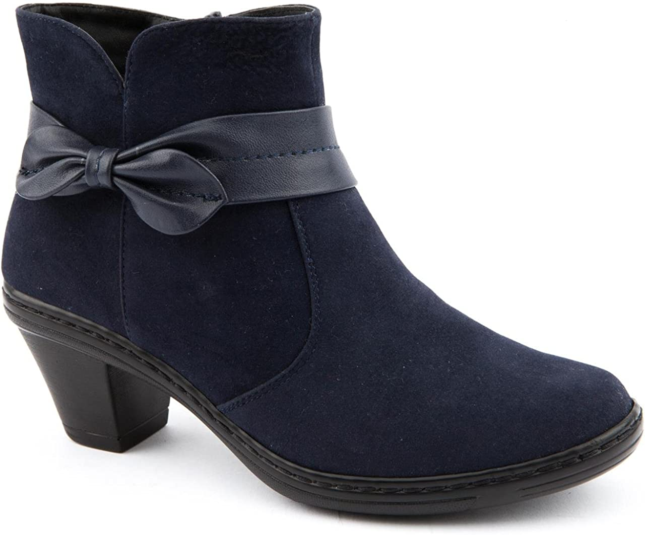 Bow Tie Navy Ankle Boots Size