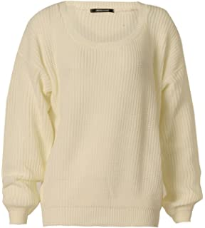 Girls Walk Women s Plus Size Chunky Knitted Oversize Baggy Jumper Sweater  Top 192d37f2d