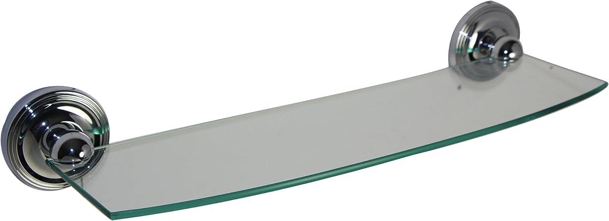 Allied Brass PMC-33//18-PNI Prestige Monte Carlo Collection 18 Inch Glass Shelf Polished Nickel
