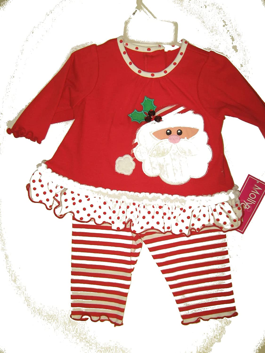 Molly /& Millie Santa Outfit