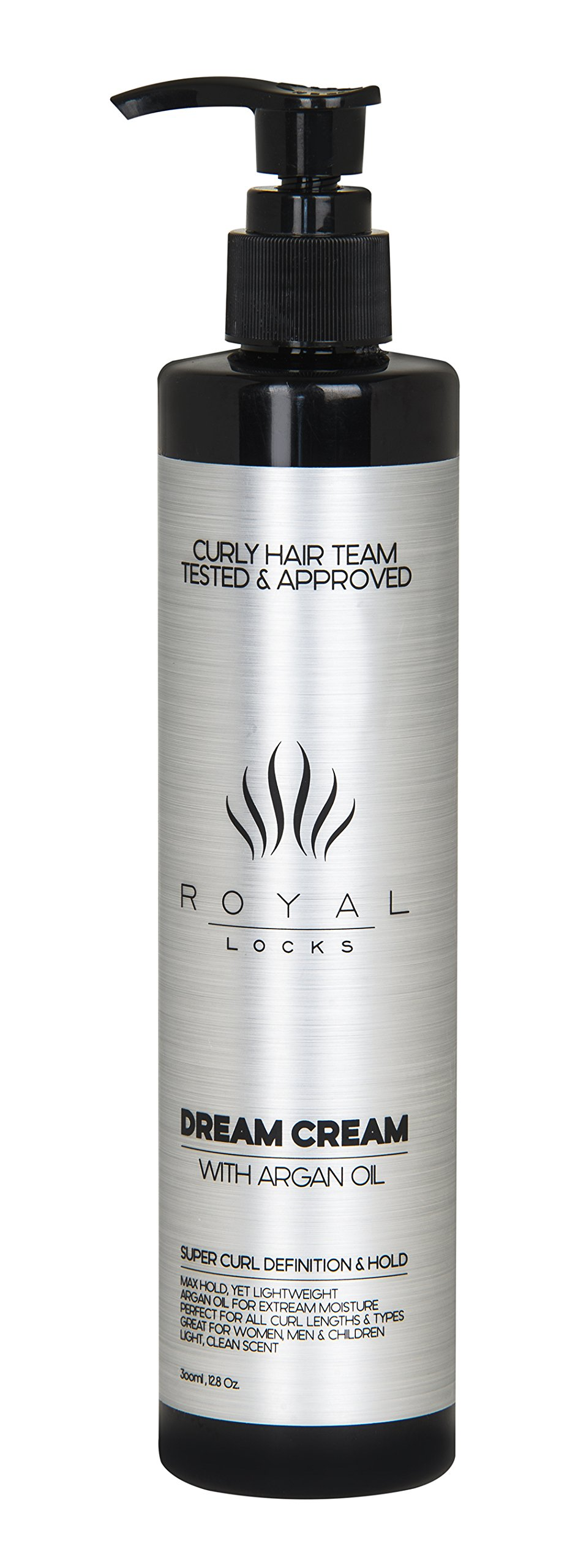 Dream Cream Ultra Curl Cream by Royal Locks. Curly Hair Product with Moroccan Argan Oil for Conditioning Anti Frizz Super Hold Defining and Styling Curl Keeper for All Curl Types.