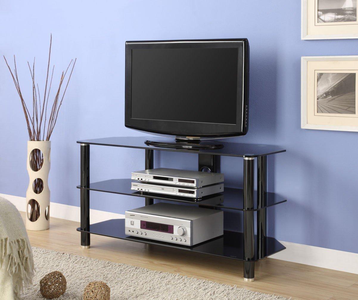 amazon com innovex concord tv stand 52 inch black kitchen dining