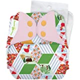 bumGenius Original One-Size Pocket-Style Cloth Diaper 5.0 - Little House in the Big Woods Collection (Patchwork)