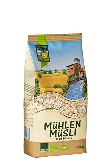Bohlsener Mühle Muesli Basic Avena y Espelta - 6 Paquetes de 500 gr - Total: