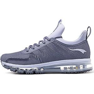 super popular a0c0e 64046 ONEMIX Chaussures de Course pour Hommes Chaussures de Sport Coussin d air  Cushion Athletic Sports