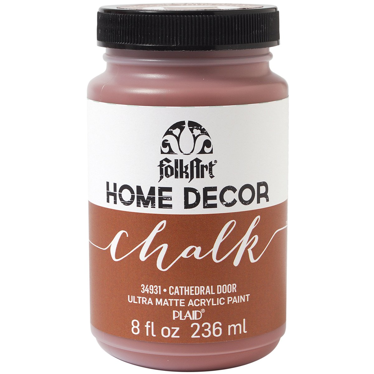 FolkArt Home Decor Chalk Furniture & Craft Paint in Assorted Colors (8-Ounce), 34156 Yellow Crochet Plaid Inc.