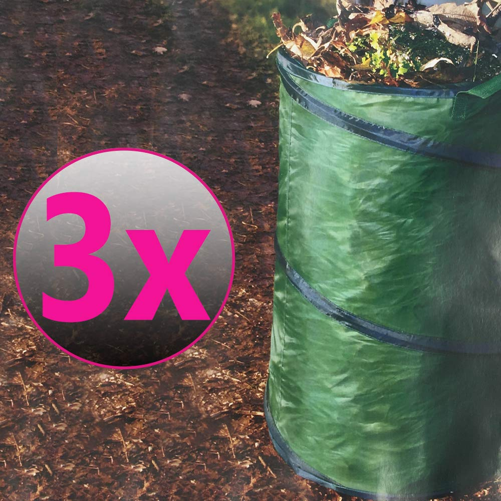Pop-Up Gartenabfallsack 100 Liter doppelte Nähte Gartensack Rasensack Laubsack